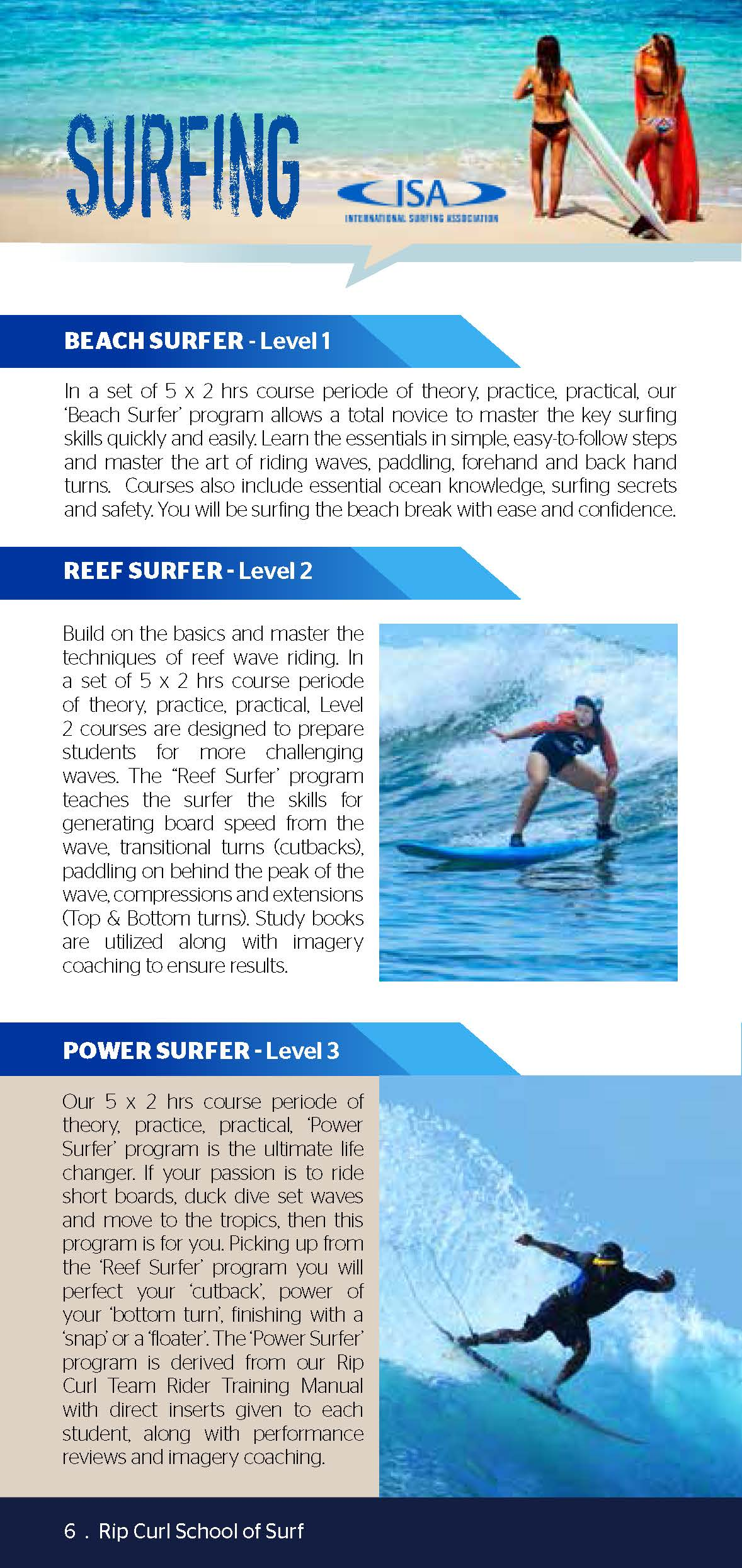 BOOKLET - Rip Curl School of Surf